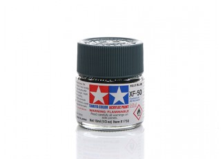 Tamiya XF-50 Flat Field Blue Mini Acrylic Paint (10ml)