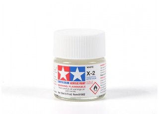 Tamiya X2 Gloss White Acrylic Paint (10ml)