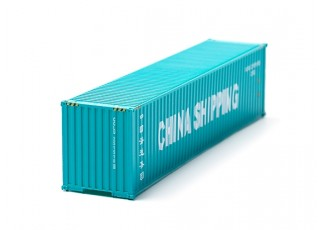 HO Scale 40ft Shipping Container (CHINA SHIPPING) front view