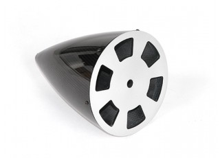5 Inch Carbon Fiber Spinner with Aluminium Backplate - bottom