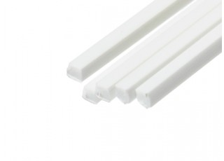 ABS Square Rod 2.0mm x 2.0mm x 500mm White (Qty 5)