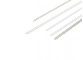 ABS Half Round Rod 1.0mm x 500mm White (Qty 5)