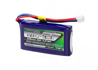 Turnigy nano-tech 550mAh 2S 65C Lipo Pack