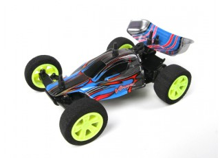 Velocis Viper 1/32 2WD Buggy (RTR) (Blue) - top view