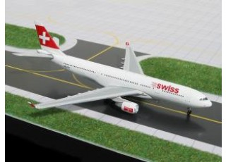 Gemini Jets Swiss International (New Colors) Airbus A330-200 HB-IQC 1:400 Diecast Model GJSWR360