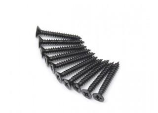 Screw Flat Head Phillips M3x22mm Self Tapping Steel Black (10pcs)