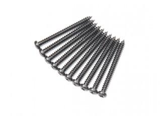 Screw Round Head Phillips M2.6x28mm Self Tapping Steel Black (10pcs)