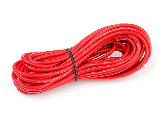 Turnigy High Quality 14AWG Silicone Wire 6m (Red)