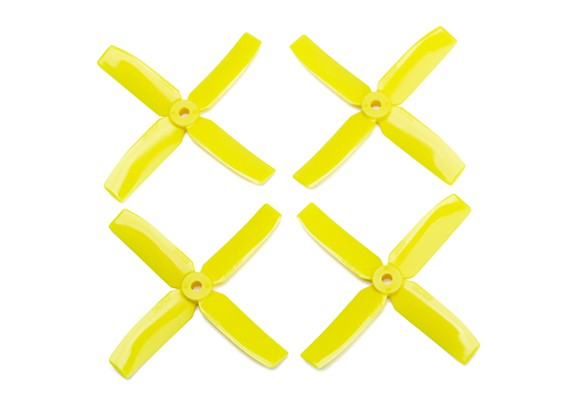 Dalprop Q4040 Bull Nose 4 Blade Propellers CW/CCW Set Yellow (2 pairs)