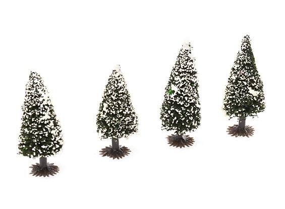 HobbyKing™ 70mm Scenic Model Fir Trees with Snow (4 pcs)