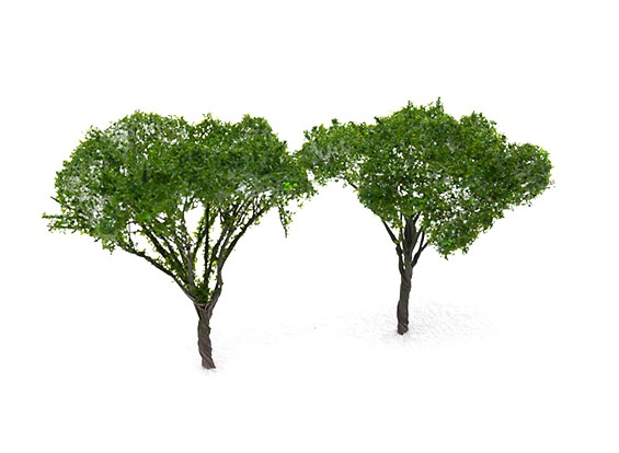 HobbyKing™ 90mm Dark Green Scenic Wire Model Trees (2 pcs)