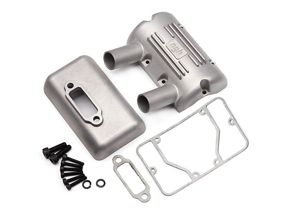 NGH GT35/35R 35cc Gas Engine Replacement Muffler Assembly