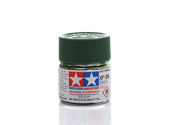 Tamiya XF-26 Flat Deep Green Mini Acrylic Paint (10ml)