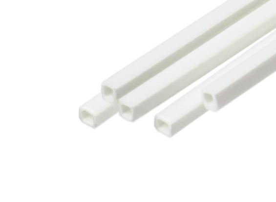 ABS Square Tube 2.0mm x 2.0mm x 500mm White (Qty 5)