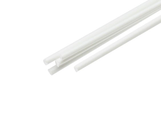ABS Round Rod 1.5mm x 500mm White (Qty 5)
