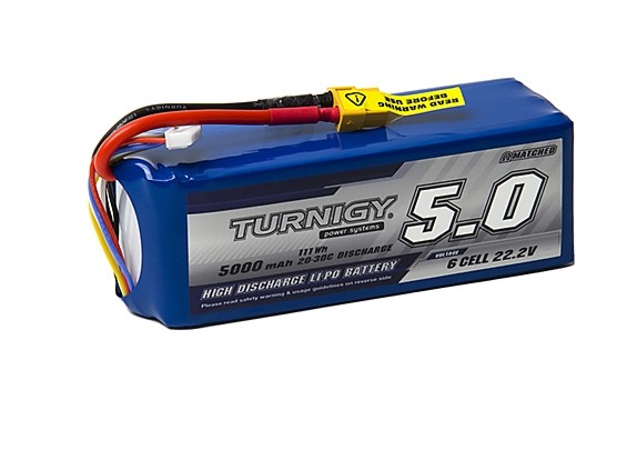 Turnigy 5000mAh 6S 20C Lipo Pack w/XT90 Connector