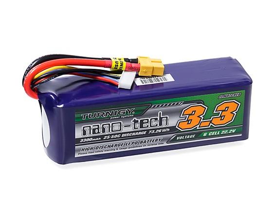 Turnigy nano-tech 3300mAh 6S 25~50C Lipo Pack w/XT-60