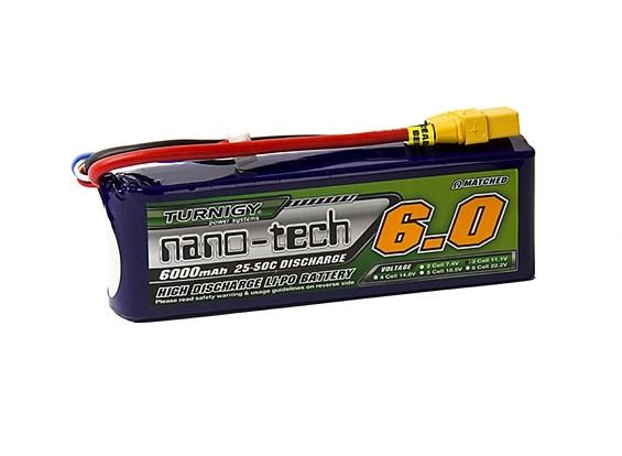 Turnigy nano-tech 6000mah 3S 25~50C Lipo Pack w/XT-90