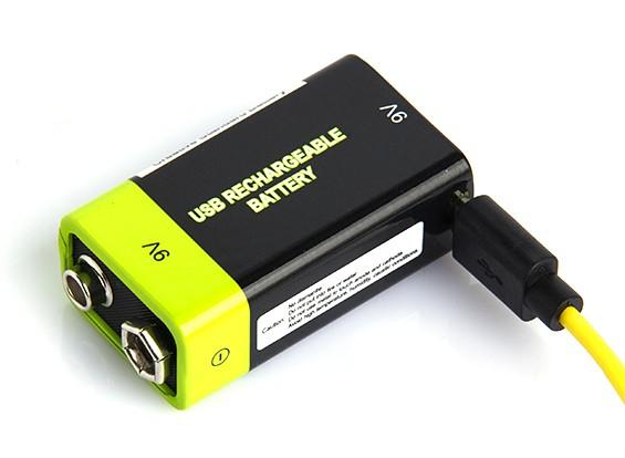 Znter ZNT-9V 9V USB Rechargeable LiPoly Battery (1pc)