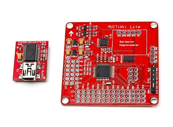 MultiWii精简版V1.0飞行控制器瓦特/ FTDI