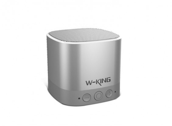 W-king W5 Portable Mirco Bluetooth Speaker With Calls / TF / AUX - SILVER