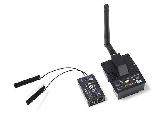睿思凯XJT 2.4GHz的组合包JR瓦特/遥测模块与X8R 8 / 16CH S.BUS ACCST遥测接收机