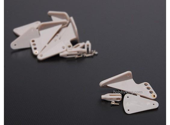 霍恩X大瓦特/耳环55x40mm和孔(5台)
