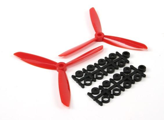 5045×3电动螺旋桨(顺时针和逆时针)红色1对/袋