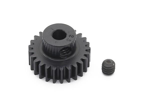罗宾逊赛车黑色阳极电镀铝小齿轮节距48 25T(AR仓库)