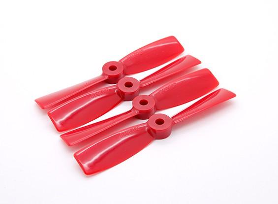 """Dalprops""""坚不可摧""""牛鼻4045螺旋桨顺时针/逆时针设置红(2对)"""