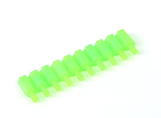 10毫米男/女M3间隔X10  - 绿色