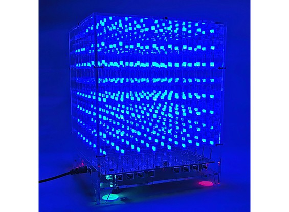 3D8 8X8X8 LED音乐MP3 DIY套件3毫米的情况下