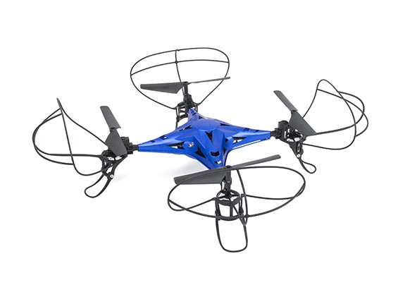 2.4G 4路合金遥控四轴飞行器没有摄像机带有6轴陀螺仪蓝