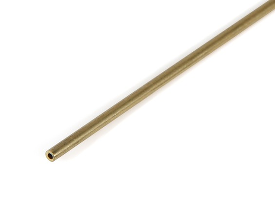 "K&S Precision Metals Brass Round Stock Tube 1/16"" OD x 0.014 x 36"" (Qty 1)"