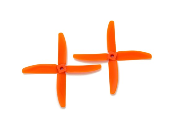 Gemfan圆头聚碳酸酯5040 4叶螺旋桨橙色(CW / CCW)(1对)