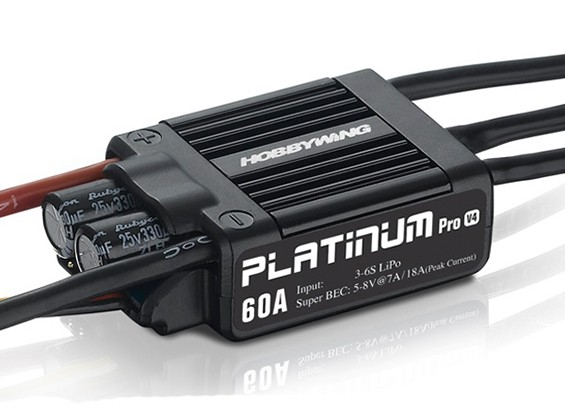 Hobbywing白金60A V4无刷电调瓦特/ 7A BEC