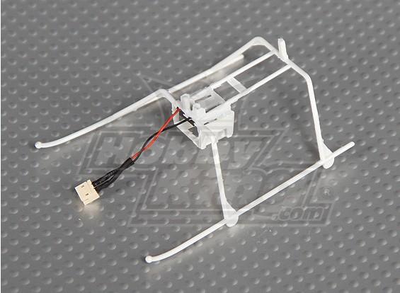 独奏临FP II着陆橇和电池架W /连接器