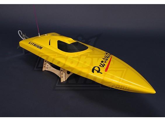 追求无刷V-赫尔R / C船(820毫米)W /电机