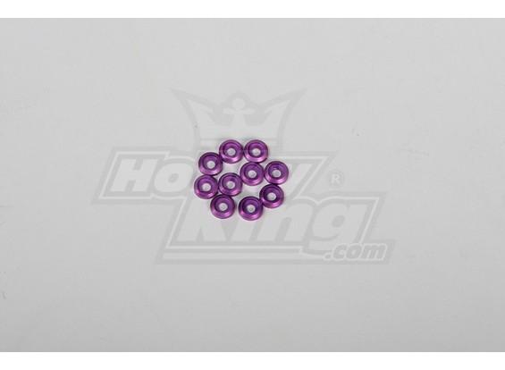 金属表面盖3毫米螺丝所有30-90 helis紫色(10片装)