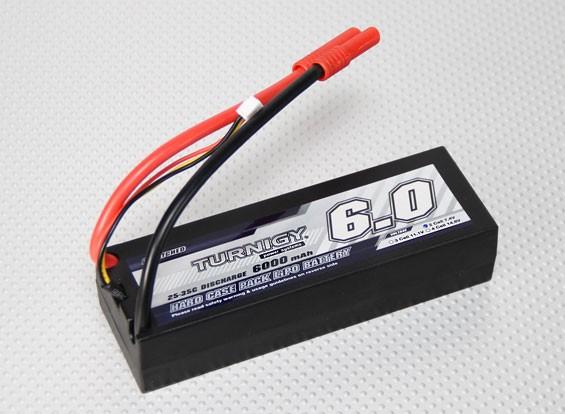 Turnigy 6000mAh的7.4V 2S2P 25℃HARDCASE包
