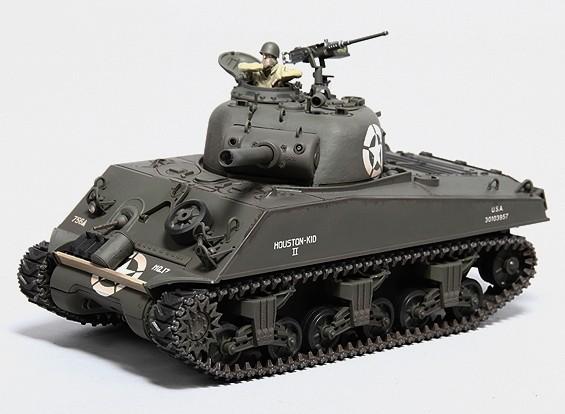 美国的M4A3谢尔曼中型遥控坦克RTR W /发送/声音/红外(756坦克BTN HQ)