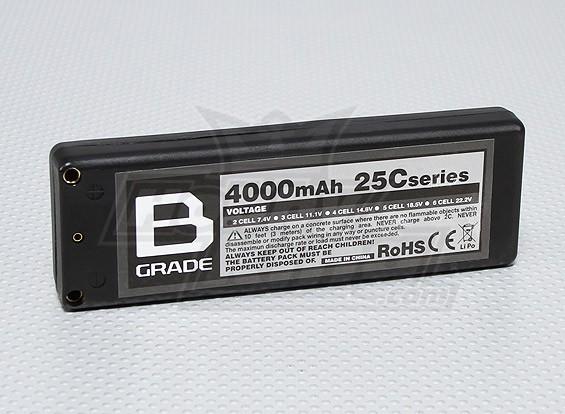 B级4000mAh的2S 25℃硬盒Lipoly电池