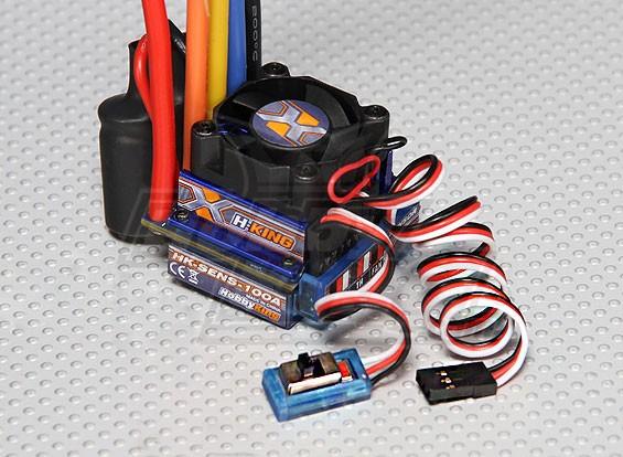 HobbyKing®™100A带传感器/传感器汽车ESC(1:10)