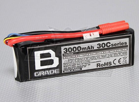 B级3000mAh的3S 30C Lipoly电池