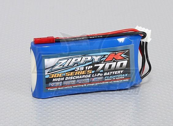 比比-K Flightmax 700mAh的3S1P 30C Lipoly电池