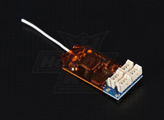 OrangeRx R415 DSM2支持4声道微型接收器的2.4GHz