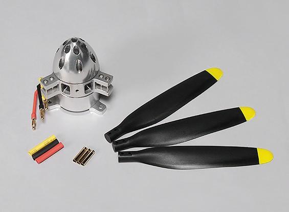 轴 - 免费3528 450KV无刷电机外转子1400W(3刀片螺旋桨)