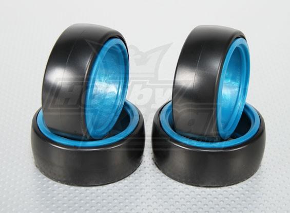 1:10规模硬塑料漂移轮胎W /软可拆卸刀片遥控车26毫米