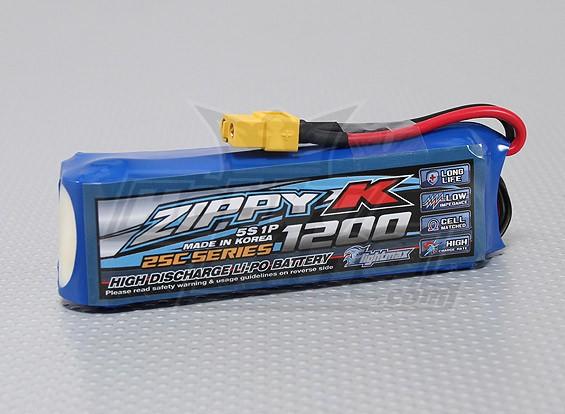 比比-K Flightmax 1200mAh的5S1P 25C Lipoly电池