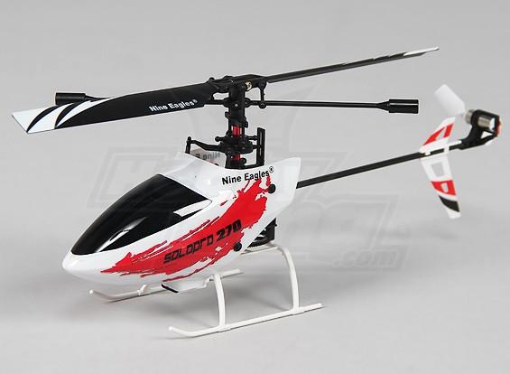 独奏PRO 270 4路固定摊位微型直升机 - 怀特(模式2)(RTF)